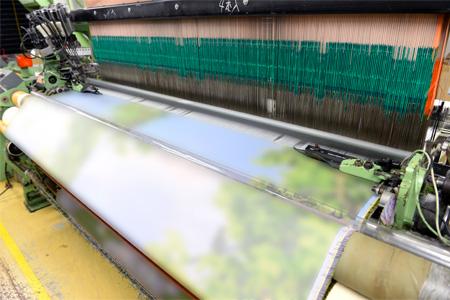 """""""ドイツのドルニエ社のレピア織機が、日本で最も多く稼働する"""